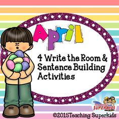 April Write the Room Task Cards  FREEBIE