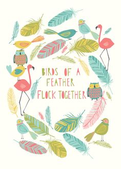 Birds of a feather Art Print - Bethan Janine