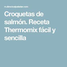 Croquetas de salmón. Receta Thermomix fácil y sencilla