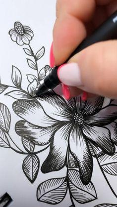 Art Drawings Sketches Simple, Pencil Art Drawings, Doodle Art Designs, Gel Ink Pens, Aesthetic Painting, Drawing Techniques, Art Tips, Art Tutorials, Diy Art