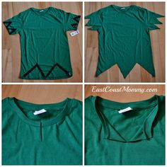 "DIY Peter Pan Costume... how to make a ""no sew"" Peter Pan tunic."
