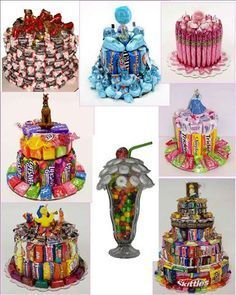 Candy Centerpieces, for the kids table