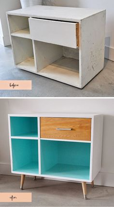 Mueble años 50, creado a partir de uno reciclado. Before + After | Midcentury Modern Style - by Nicole Phillips of Visual Heart