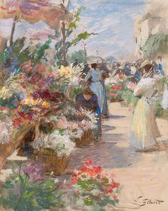 The Flower Market Victor Gabriel Gilbert