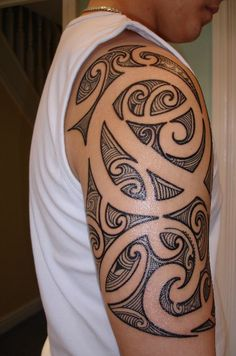 Maori Tattoo Designs 3 Of 51 Design 13995 Pixel - Letter Tattoos Maori Tattoos, Maori Tattoo Meanings, Marquesan Tattoos, Samoan Tattoo, Body Tattoos, Polynesian Tattoos, Bicep Tattoos, Tribal Shoulder Tattoos, Tribal Sleeve Tattoos