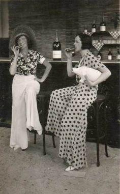 Beach Pajamas. Articles, photos. Very popular in the 1930s.