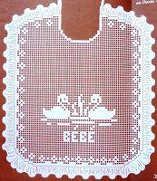 crochet em revista: babete