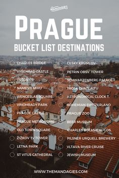 Save this pin for travel inspiration later, … Prague, Czech Republic Bucket List. Save this pin for travel inspiration later, and click the link for more Europe travel tips! Europe Travel Tips, Travel List, European Travel, Travel Guides, Places To Travel, Travel Bucket Lists, Europe Bucket List, Bucket List Destinations, Travel Destinations