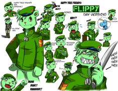 """I'm still in Happy Tree Friends mode! XD I thought of doing an anime version of Flippy. Since most of the """"anime"""" version of Flippy I saw are anime char. FLIPPY - My Version Happy 3 Friends, Happy Tree Friends Flippy, Three Friends, Htf Anime, Scared Face, Ninja Turtle Toys, Blood Art, Anime Version, Friends Image"""
