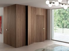 Wooden boiserie / door INFINITY SYSTEM TABULA Entry Collection by Ghizzi