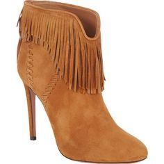 Aquazzura Fringed Tina Ankle Boots