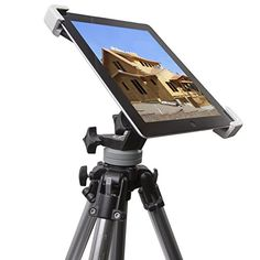 Universal Adjustable iPad Mount/Holder for Virtually All Tripods - Secure Fit & Stable Positioning for Photography, Videography, Onsite Editing & More Works For iPad 1, 2, 3 & 4 DC & Co. - Quantity: 5 http://www.amazon.com/dp/B00LW5F368/ref=cm_sw_r_pi_dp_Ycs9ub02E4A1J