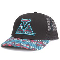 BootDaddy Embroidered Aztec Mesh Cap Black 149f6b9e85a9