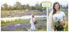 Bridal portraits, Spring, handmade florals