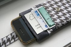 iPhone wallet / iPhone Sleeve / iPhone Case  by chubbycloud, $19.00