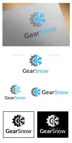 ▤ [GET]▸ Gear Snow Logo Blue Brand Branding Connection Connections Creative Typography Logo, Logos, Fantasy Logo, Education Logo Design, Gear Logo, Waves Logo, Service Logo, Creative Company, Branding