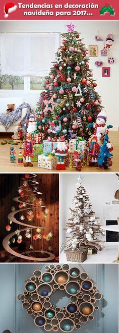 Tendencias en decoración navideña. Decoración Navidad. Decoración navideña 2017.