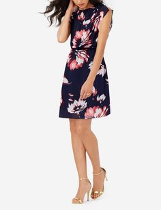 Printed Sheer Overlay Dress