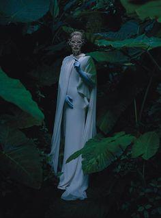 "Tilda Swinton ""Stranger Than Paradise"" by Tim Walker for W Magazine May 2013 - XILITLA MEXICO! (DRESS GUCCI SS13)"