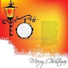 Baixar - Cartão de saudação de Natal vintage - ilustração vetorial — Ilustração de Stock #16630949