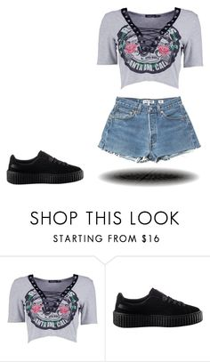 """""""Untitled #267"""" by cgmhcjhf ❤ liked on Polyvore featuring Boohoo and Puma"""