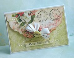 Vintage card ; Use Apothecary accents?