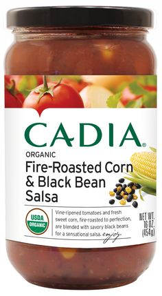 Cadia Fire-Roasted Corn and Black Bean Salsa