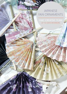 Make something truly international and unique with this stunning Japanese Paper Fan Ornament! Bring pizzazz to your Christmas tree with these ornaments! Japanese Christmas, Modern Christmas, Christmas Crafts, Christmas Tree, Japanese Birthday, Japanese Party, Unique Christmas Ornaments, Christmas Decorations, Japanese Paper Lanterns