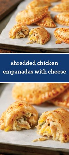 Shredded Chicken Empanadas with Cheese – You'll experience a delicious burst of flavor when you try this recipe. Simply combine shredded cooked chicken, Mexican-style cheese, chipotle aioli, and fresh cilantro for the delicious empanada filling.