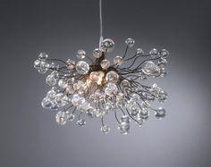 Lighting hanging chandeliers clear bubbles by Flowersinlight