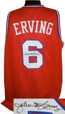 d734bf1ab Julius Erving signed Philadelphia 76ers Red Prostyle Jersey