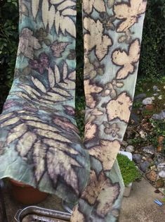 Natural dying and printing with leaves