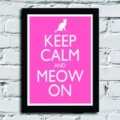 Poster com Moldura Meow on