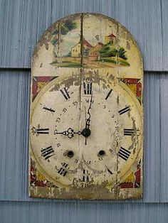 Antique Aesthetic Eastlake Victorian Early Clock Face Hand Painted Scene | eBay