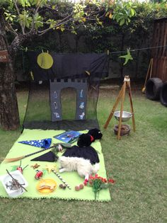 Room on the broom - World Book Week Characteristics of Effective Learning- Finding New ways to do things Here the children can explore the interesting resources as well as role-play various characters from the book. This book was new to Toddlers and the first time they had been introduced to the story. They loved this interactive activity.