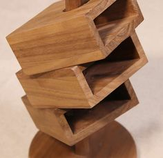 3-layer Wooden Office  Desk Organizer