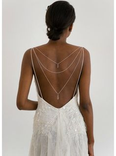 Formal Wedding, Wedding Bride, Wedding Styles, Dream Wedding, Back Necklace, Bridal Necklace, Bridal Dresses, Prom Dresses, Weeding Dress