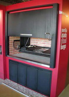 Asador Barbecue Design, Grill Design, Grill Oven, Bbq Grill, Argentina Grill, Parrilla Interior, Patio Kitchen, Wood Fired Oven, Bbq Area