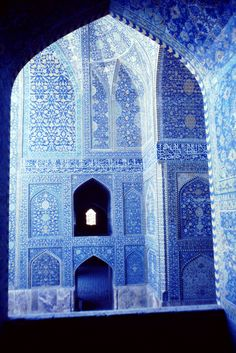 Isfahan, Iran- heavenly mosque- blue
