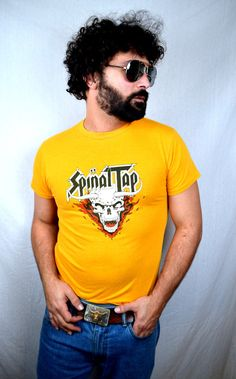 Vintage 1984 80s Spinal Tap Tour Tee Shirt by RogueRetro on Etsy