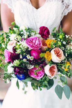 Rustic California garden wedding - bouquet | 100 Layer Cake