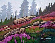 Nicholas Bott, artist, original oil paintings at White Rock Gallery Canadian Painters, Canadian Artists, Landscape Art, Landscape Paintings, Mini Paintings, Landscapes, Tree Art, Artist Art, Painting Inspiration