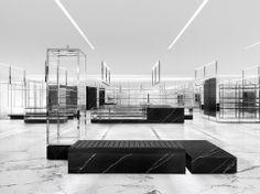 Saint Laurent interiors, by Hedi Slimane