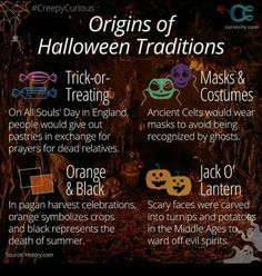 Origin of Halloween Traditions Samhain Halloween, Holidays Halloween, Halloween Crafts, Happy Halloween, Halloween Ideas, Halloween Stuff, Halloween Party, Haunted Halloween, Halloween Decorations