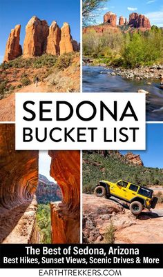 Best things to do in Sedona Arizona travel guide. Best hikes (Devils Bridge, Boynton Canyon and the Subway Cave, Soldiers Pass, Bell Rock, Cathedral Rock, Bear Mountain and more), best sunset views, best scenic drives, best shopping and wineries. Plus, advice on where to eat and where to stay.