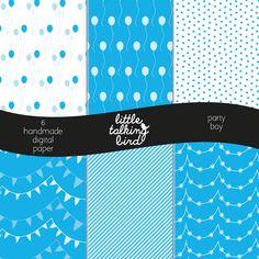 https://www.etsy.com/it/listing/248987463/boy-party-digital-paper-instant-download #digitalpaper #party #boy #babyshower #decoration #card #invitation #scrapbook #scrapbooking #craft #balloons #polkadot #birthday