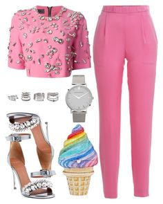 """""""Bubble Yum"""" by kimeechanga ❤ liked on Polyvore featuring Emanuel Ungaro, Vionnet, Judith Leiber, Larsson & Jennings, Givenchy, Forever 21, women's clothing, women, female and woman"""
