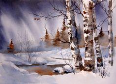 Akvareller - www.audrye.net. Gorgeous!!