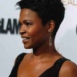 Nia Long Short Spiked Pixie Cut