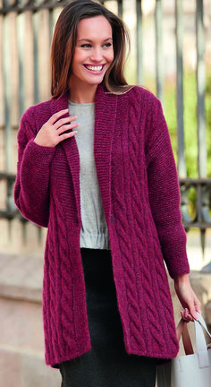 Woensdag Katia Concept Alpaca Silver Vest Jas - www. Hand Knitted Sweaters, Knitted Poncho, Knitted Hats, Free Knitting Patterns For Women, Vintage Crochet Patterns, Crochet Cardigan Pattern, Baby Hats Knitting, Knit Jacket, Blouse